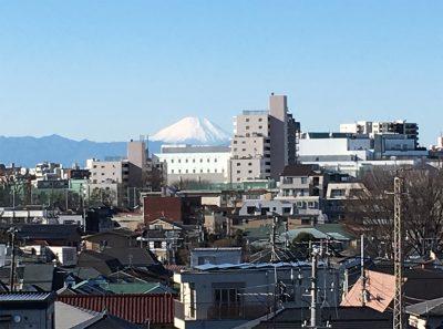 自宅から見える富士山