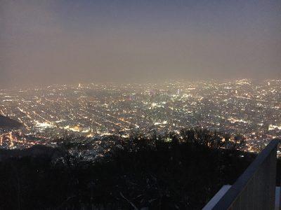 藻岩山から見た札幌市の夜景